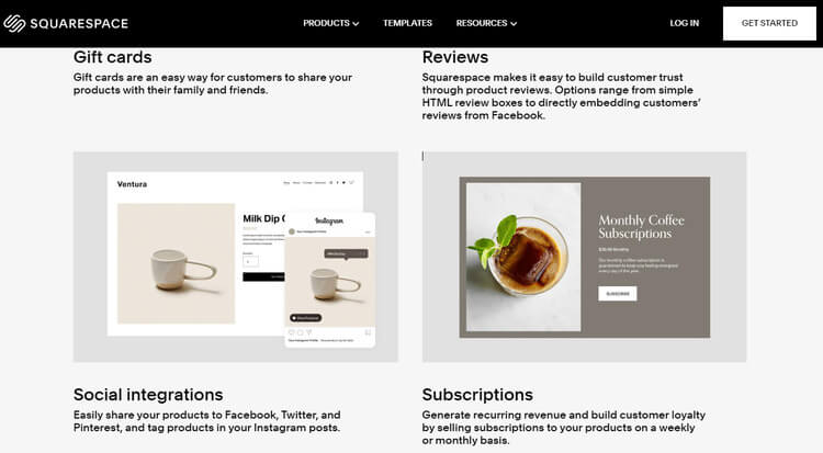 squarespace subscriptions