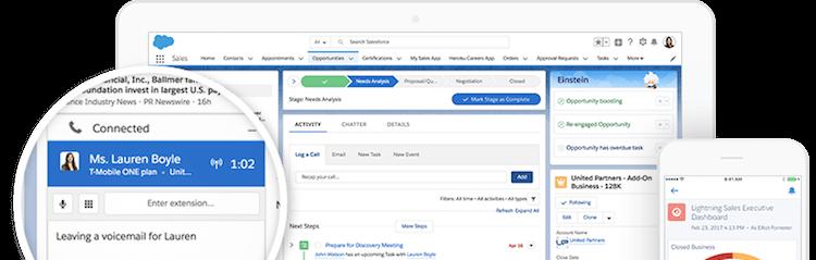 Salesforce CRM interface