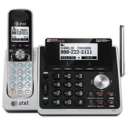AT&T 2-line cordless answering system
