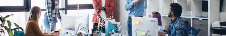 Millennials working at a digital marketing agency