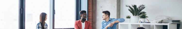 Millennials working at an advertising agency