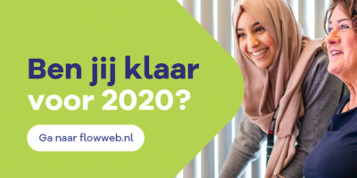 FLOW banner 2 met foto Ben jij klaar voor 2020 liggend 3x2