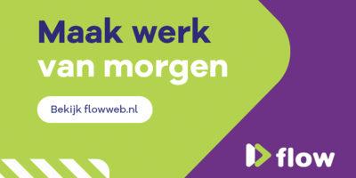 FLOW logo Maak werk van morgen liggend 3x2