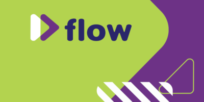 FLOW logo in beeldtaal liggend