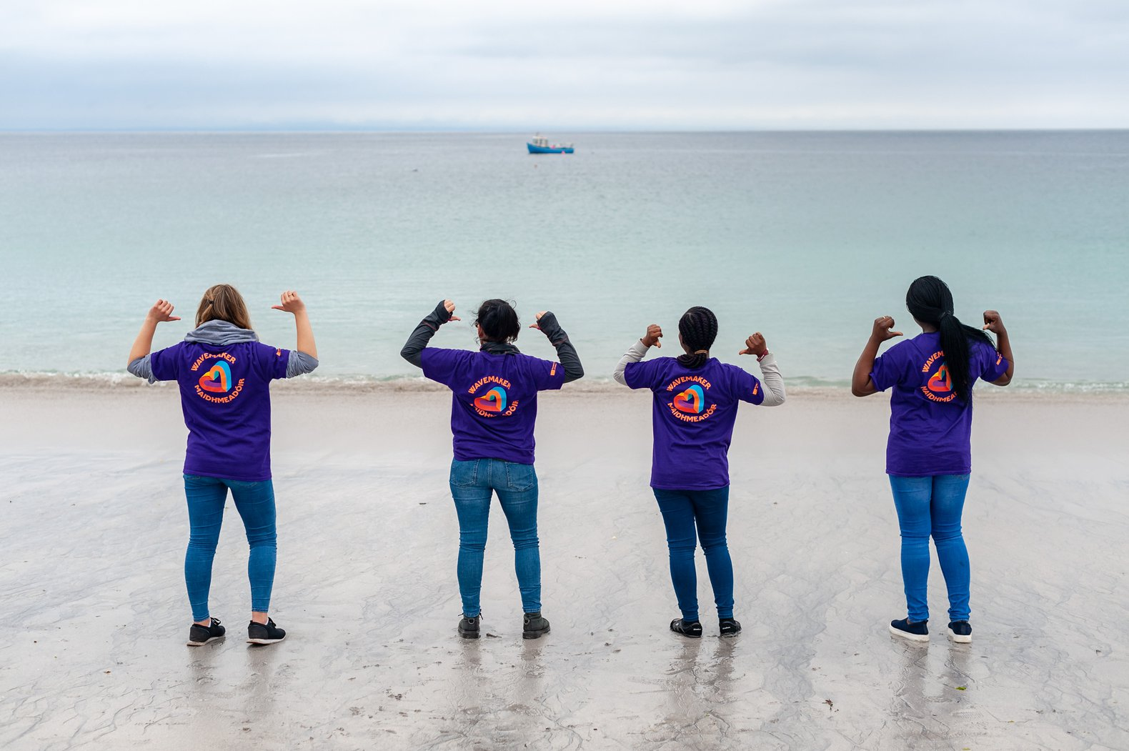 Volunteers with Galway 2020 on the Aran Islands