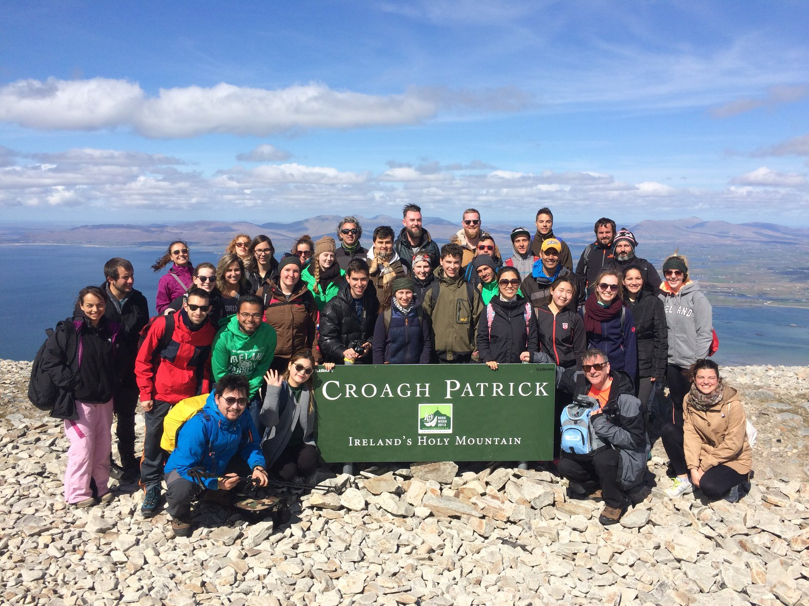 GCI students at the top of Croagh Patrick