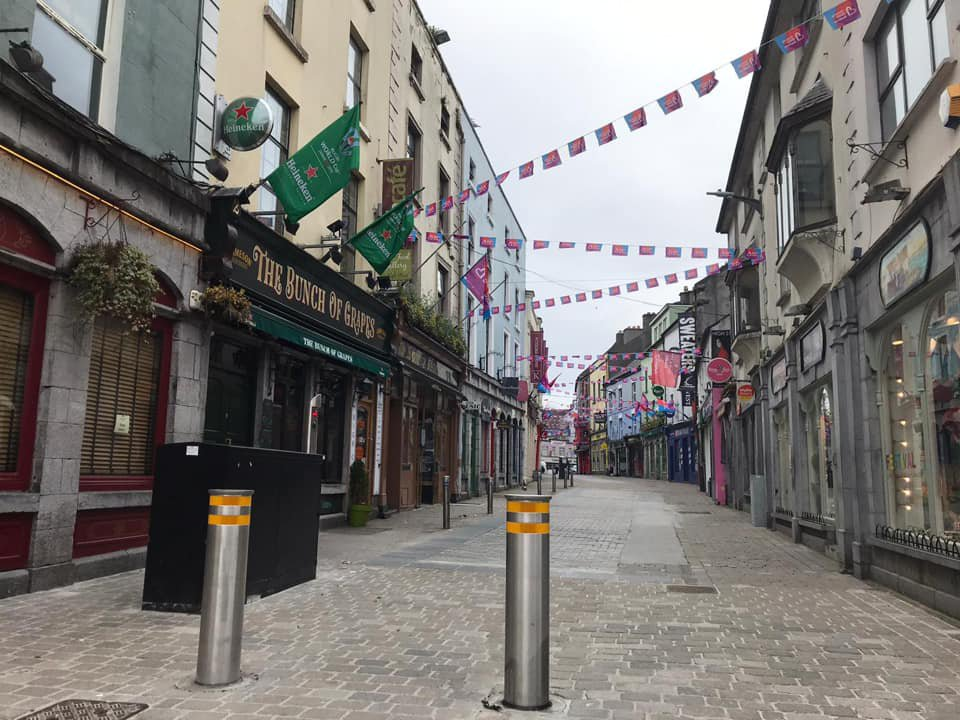 Galway's empty streets