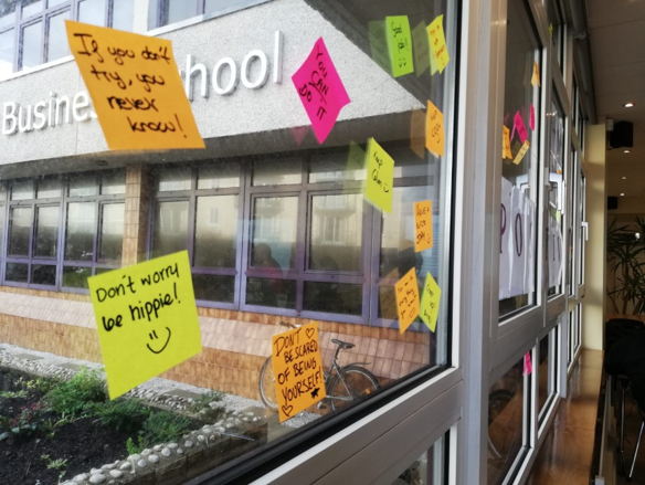 GCI Students Sticky Notes Messages