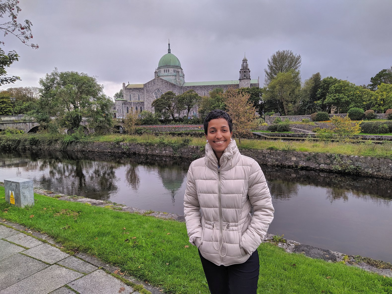 Galway cathedral in the background