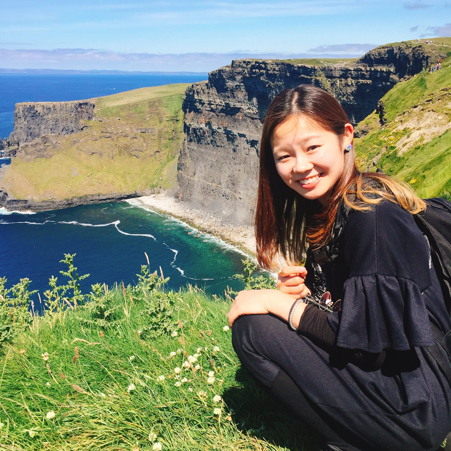 Mio visiting Cliffs of Moher