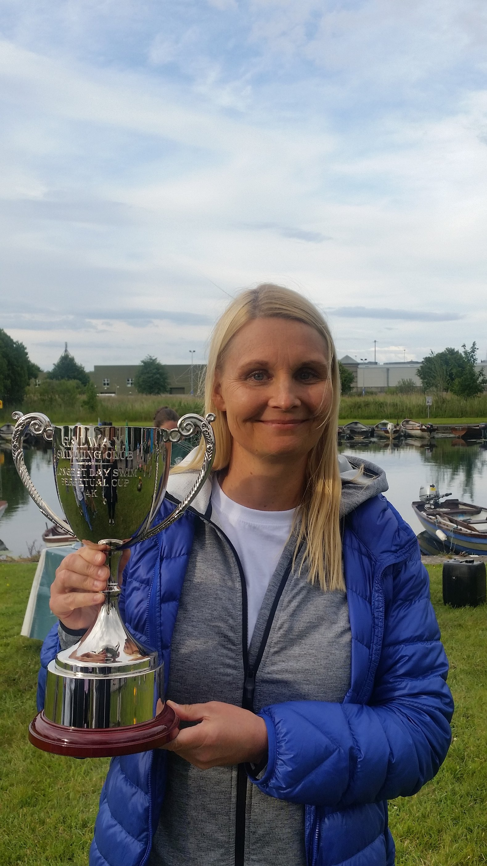 River Corrib Swim Race Winner, Ulrika