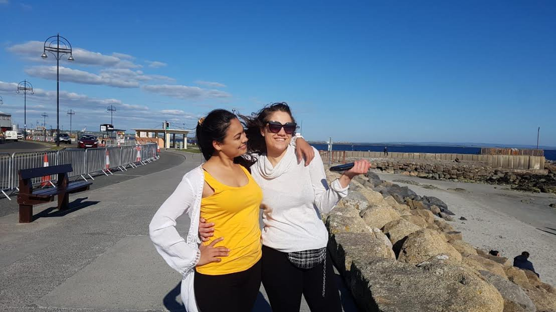 Housemates and classmates Kayla and Nadia on the Salthill prom