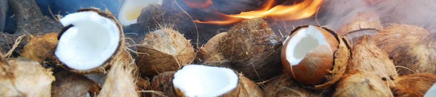 Heading coconuts