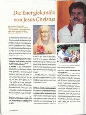 ENERGETICKÉ KANÁLY JEŽÍŠE KRISTA, Původně otištěno v časopisech VISIONEN 03/2008 a Visionen 03/2008 - KE STAŽENÍ