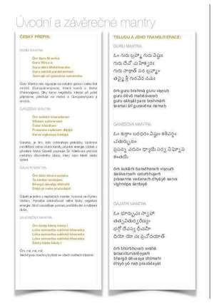 Úvodní mantry a závěrečná mantra [PDF ke stažení]
