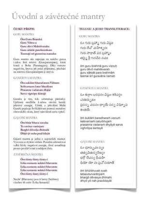 Úvodní a závěrečné mantry PDF ke stažení ZDE
