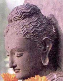 Buddha Siddhárta Gautama, mudrc z rodu Šakja (socha na dolním Rýnu)