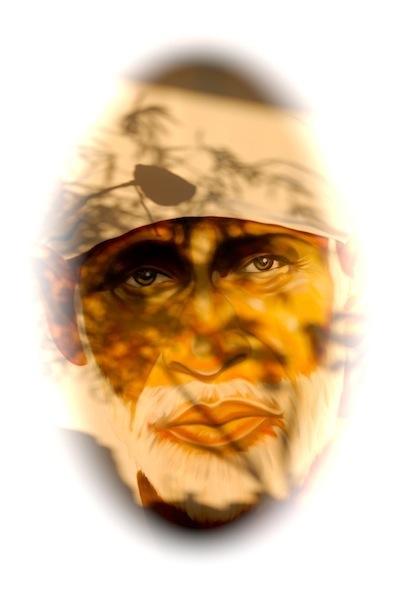 Shirdi Sai Baba - Gemälde von Andy Bittmann, Student von Sri Kaleshwar
