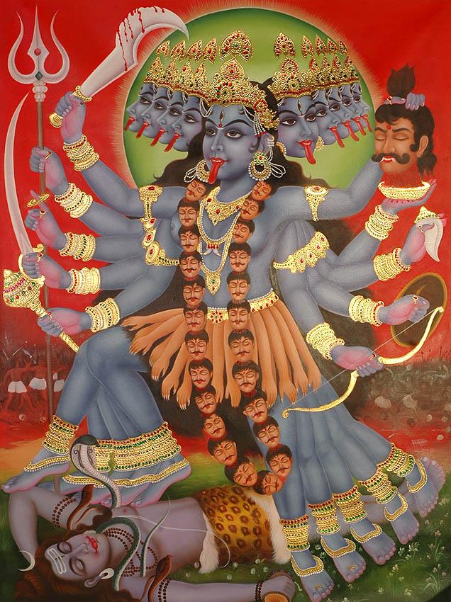 Zeichnung von Mahakali