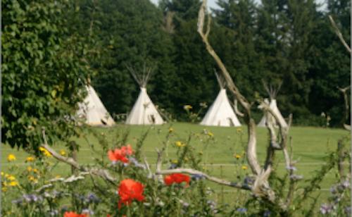 Das Seminarzentrum Beuerhof in malerischer Landschaft der Vulkan-Eifel.