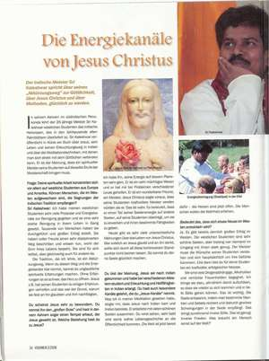 Die Energiekanäle von Jesus Christus, Artikel in VISIONEN - DOWNLOAD