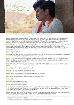 WAS GLAUBST DU, WAS DIR FRIEDEN GIBT von Sri Kaleshwar - PDF-Handout DOWNLOAD