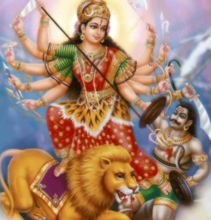 Mahishasura Mardini voitti Mahisasura
