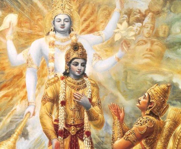 Krishna näyttää Vishwa Swarupansa - todellisen Itsensä - Arjunalle.