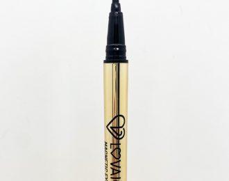 Golden magnetic eyliner for lashes.