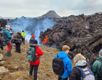 Geldingadalir Eruption, Blue Lagoon with admission included & Reykjanes Volcanic Zone | Small Group Day Tour