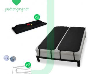 Ground Therapy Pakki af tveimur einbreiðum, jarðtendum svefnmottum – Sett