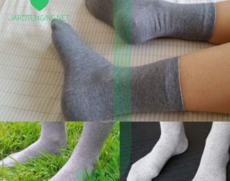 Gráir silfur sokkar með leiðandi trefjum – 1 par