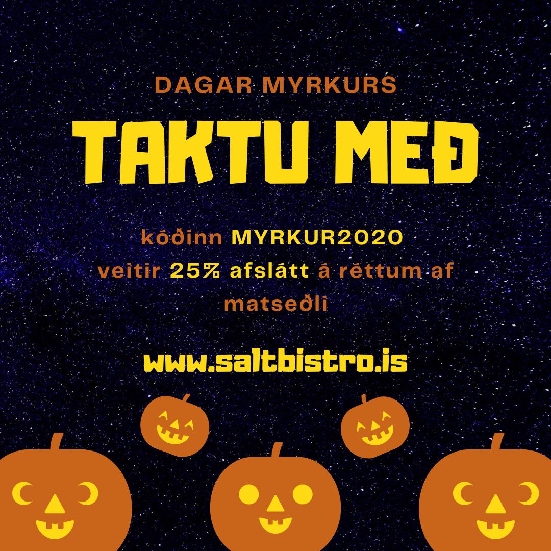 Dagar Myrkurs 28. október – 1. nóvember 2020