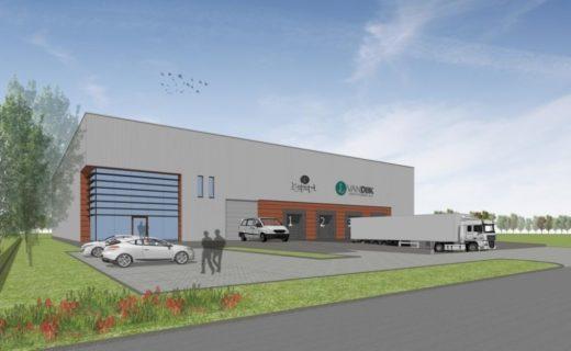 Bouw energieneutraal distributiecentrum in Kampen