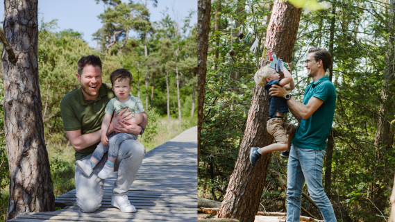 De combinatie werk en vaderschap:  zo werkt het volgens Lars en Sebastiaan