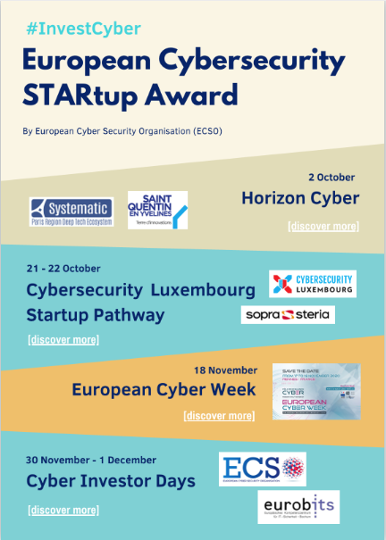 Horizon Cyber event, where the first #cybersecurity startups will be nominated to compete for the European Cybersecurity STARtup Award.