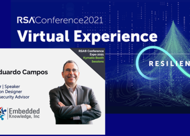 Day 2 of #RSAC 2021: J. Eduardo Campos at Kymatio booth session (18 may 2021)