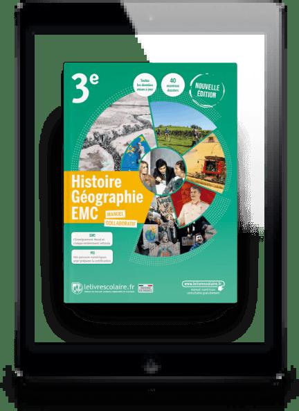 Image produit Histoire-Géographie-EMC 3e 2021 et son cahier