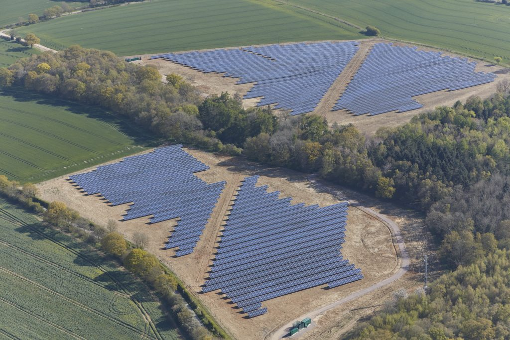Lawrence End solar farm, UK