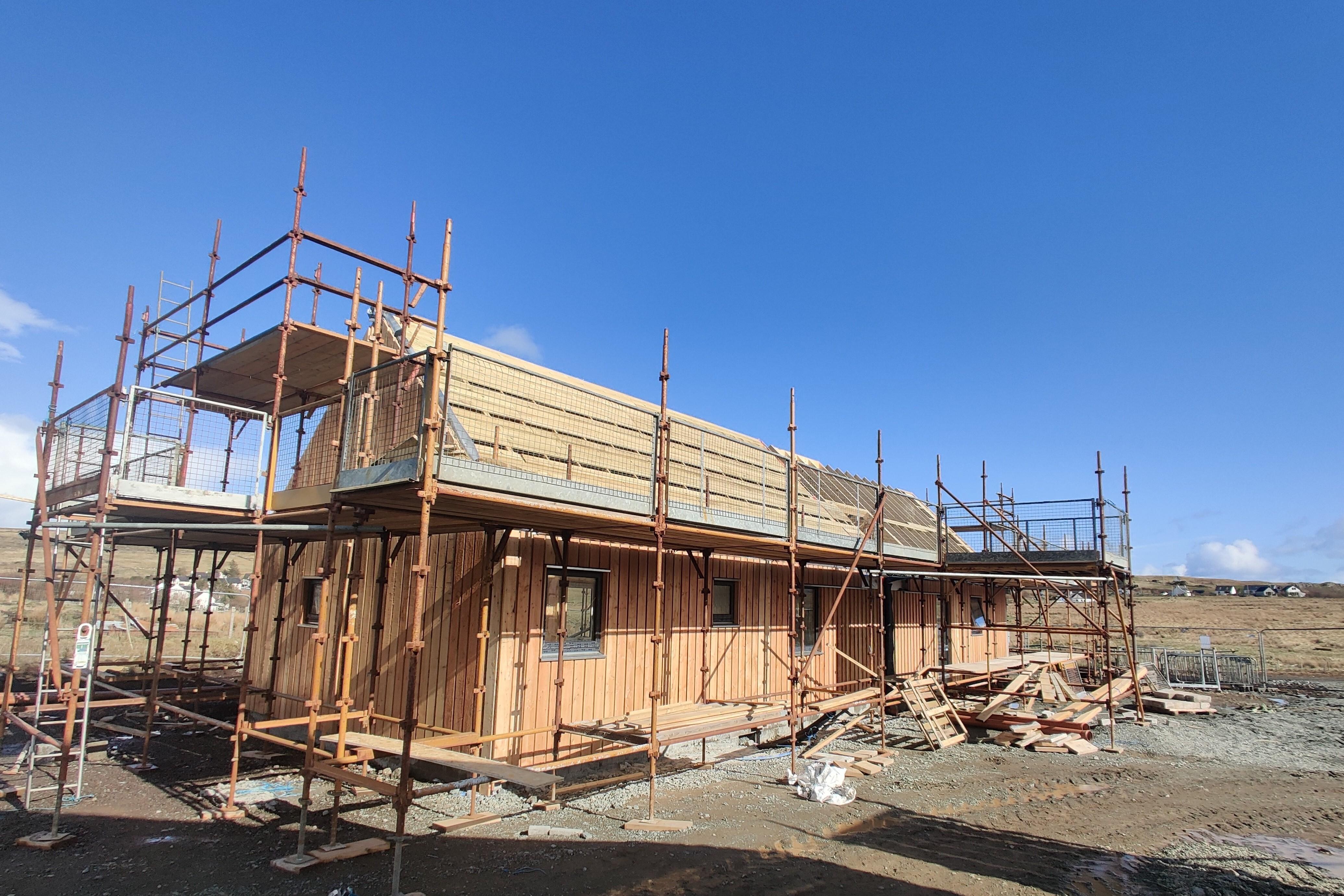 New Staffin Health centre under construction.