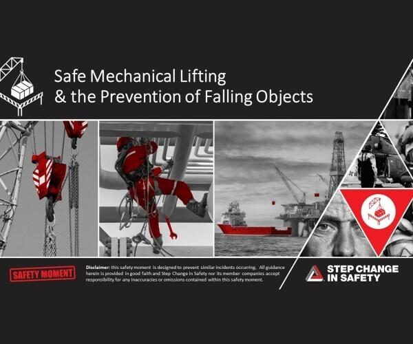 Safety Moment Safe Mechanical Lifting Preventing Falling Objects 600x500
