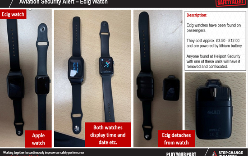 Aviation Security Alert Ecig Watches