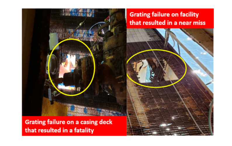 Grating failures image