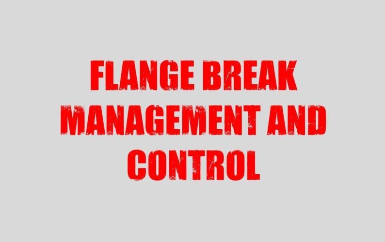 Flange break thumb