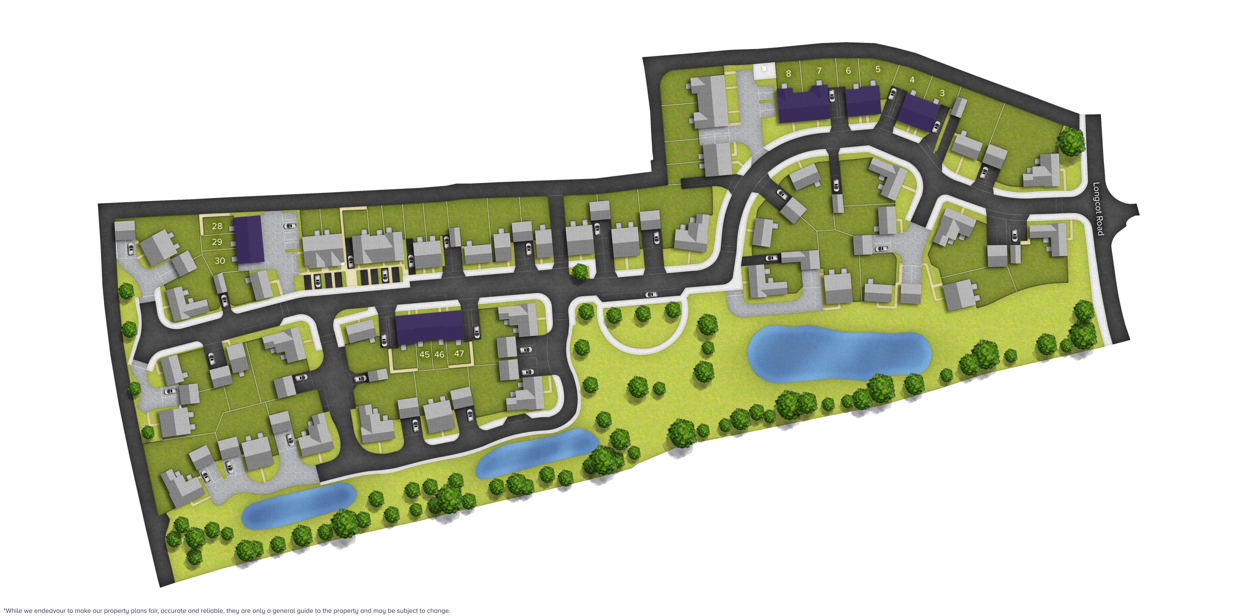 Longcot View Site Plan
