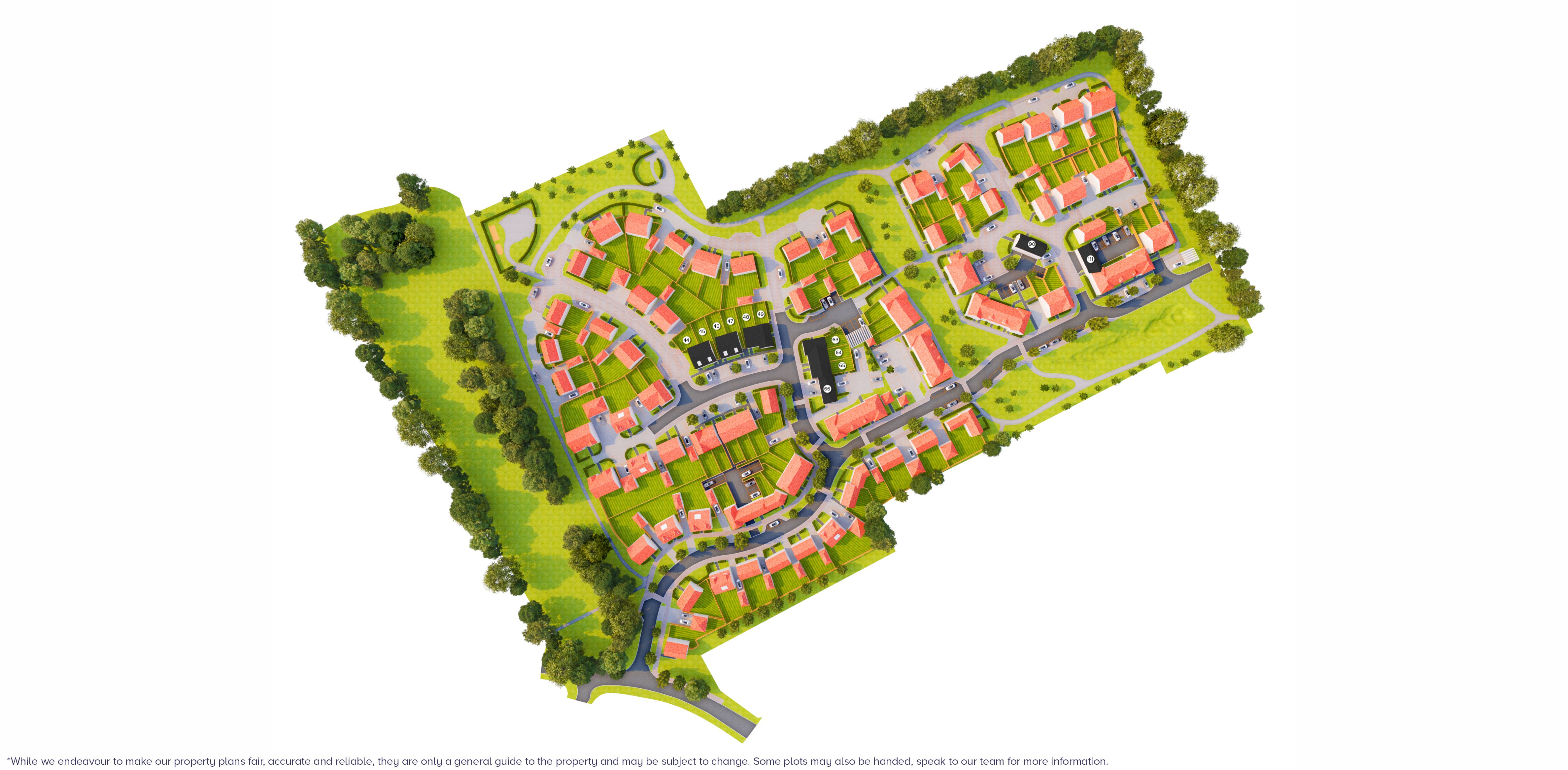 abbey view farnham site map