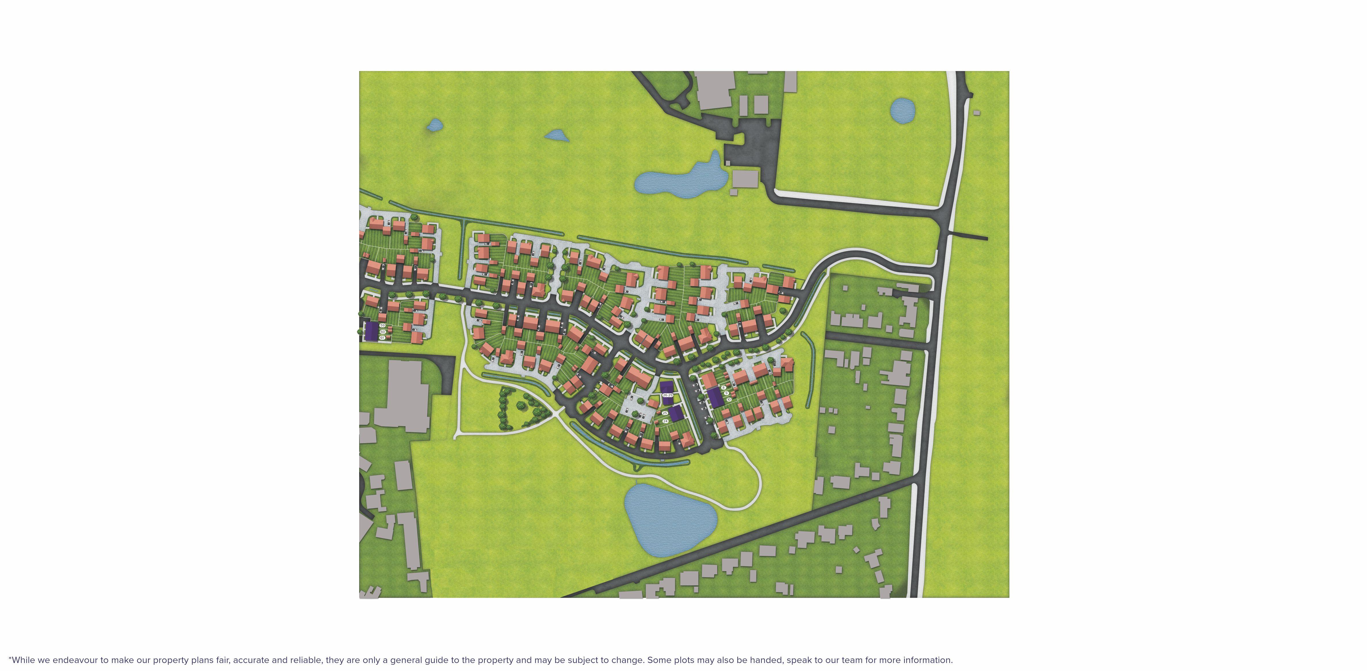 Avisford Grange, Walberton site map