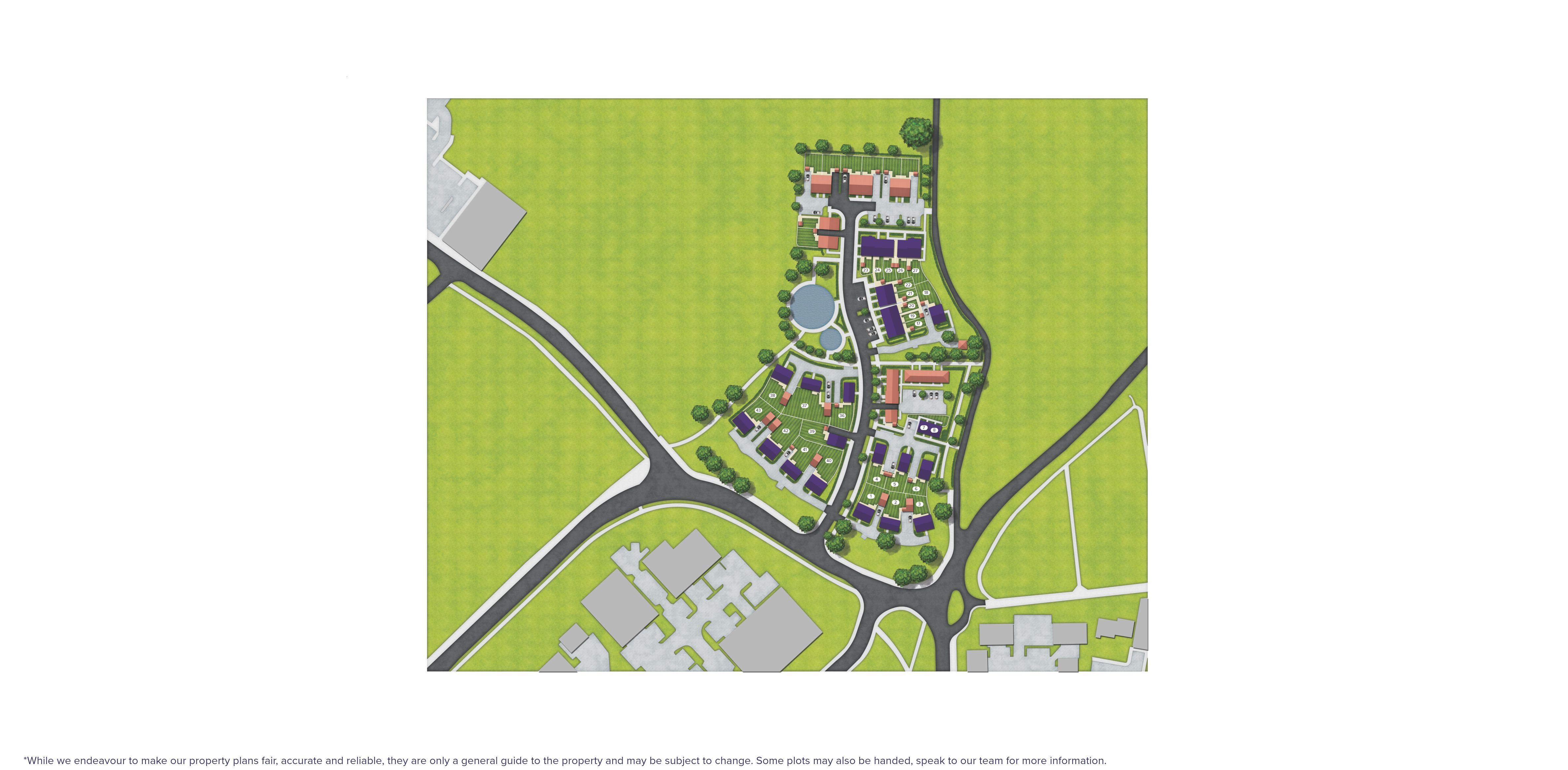 Monkton Place, Farnham - site map
