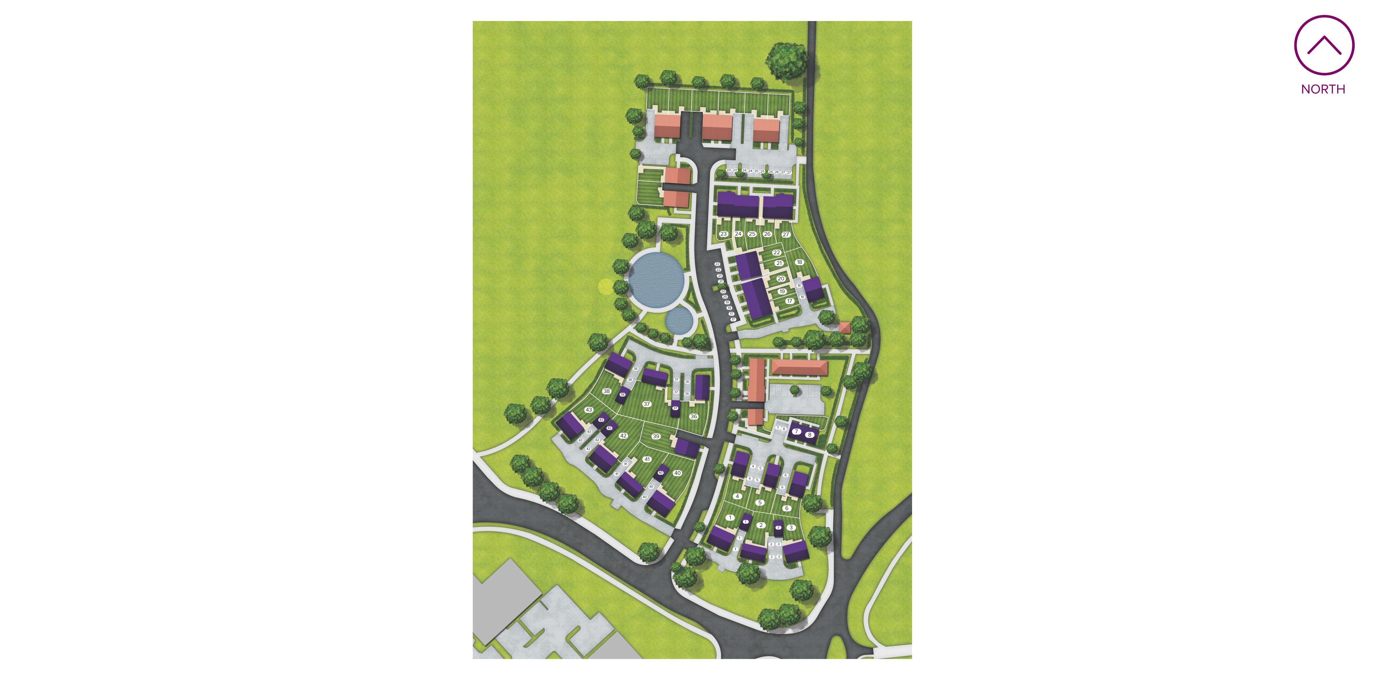 Monkton Place site map