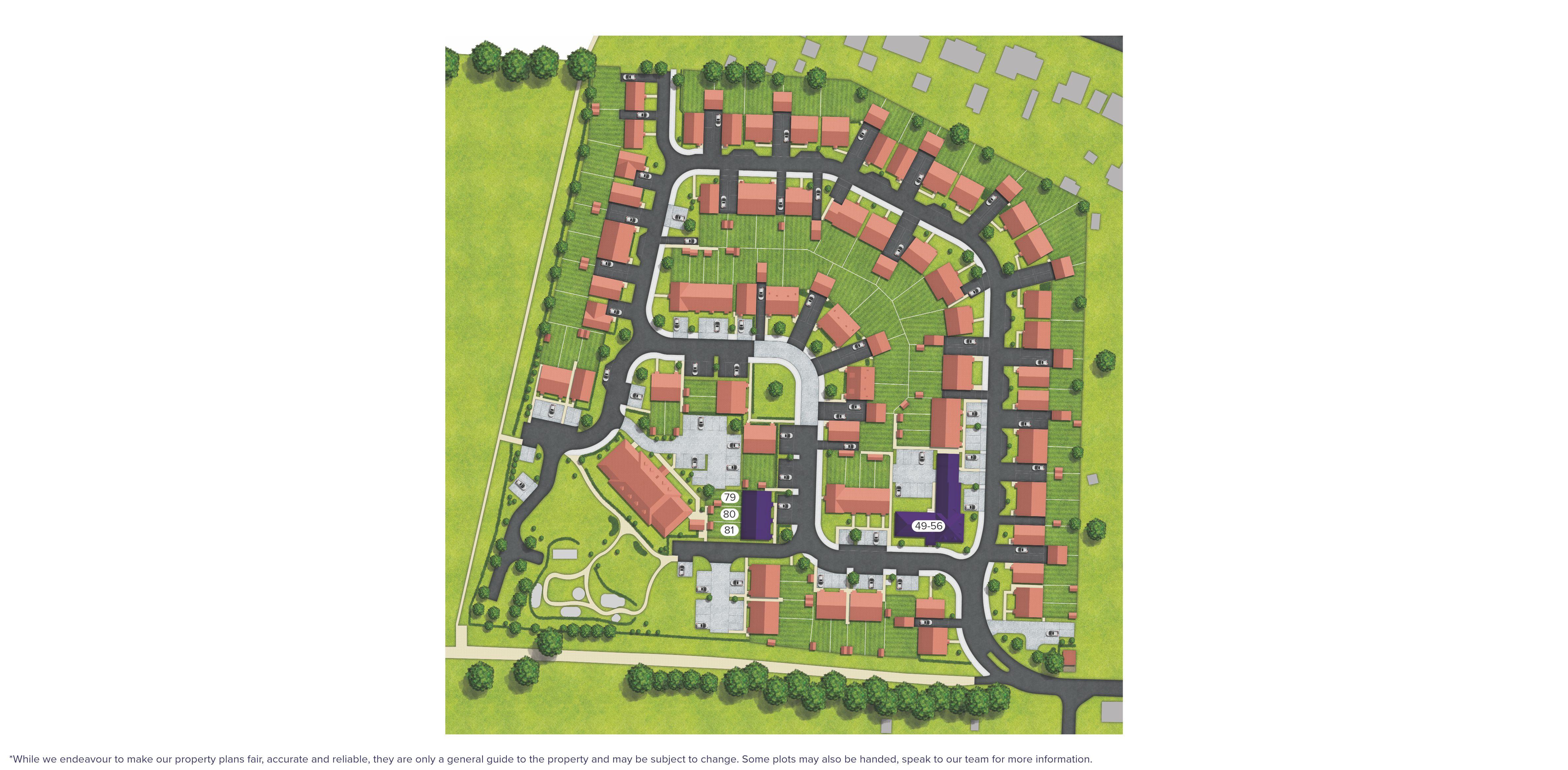 Green Lane Meadows, Farnham site map
